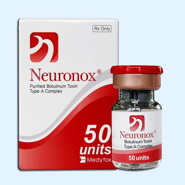 جعبه و ويال بوتاکس نورونوکس 50 واحدي يا رنگ قرمر