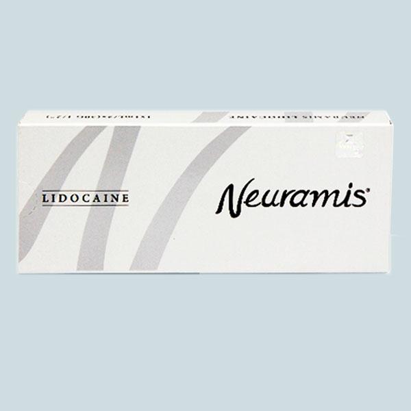 تصویری از یک عدد ژل نورامیس لیدوکائین برای فروش که قیمت آن در سایت فروش موجود است . رنگ پس زمینه متناسب با رنگ محصولات نورامیس می باشد