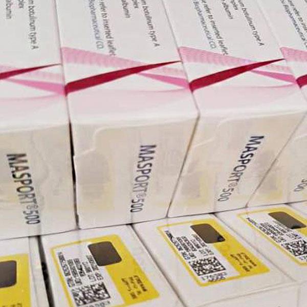 مصپورت بوتاکس 500 برای خرید با بهترین قیمت و بسته در تصویر نمایش داده شده است. زمینه تصویر سفید می باشد