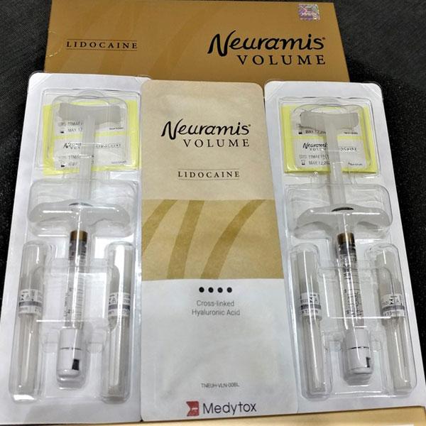 قیمت ژل نورامیس والیوم لب دار نورامیس با زمینه آبی کم رنگ و با بهترین و مناسب ترین قیمت