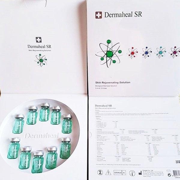 تصویر پک باز شده یک عدد محصول اس ار متعلق به برند درماهیل. . محتویات محصول بیرون می باشد و رمینه تصویر سفید است