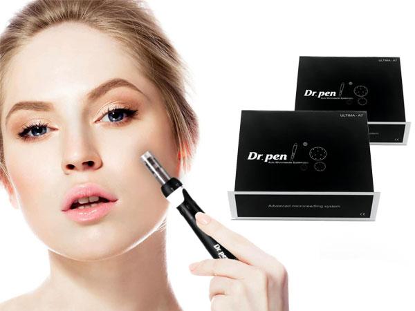 تصویر صورت خانمی که با استفاده از قلم سوزن زنی دکتر پن A7 به بهترین شکل ممکن جوان شده است. این تصویر با قیمت و خرید محصولات دکترپن درارتباط می باشد