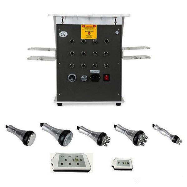 مشخصات دستگاه آر اف کويتيشن لاغري 6 کاره از نمای پشت دستگاه