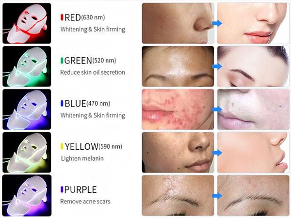 استفاده از ماسک ال ای دی و تاثیر آن بر روی پوست